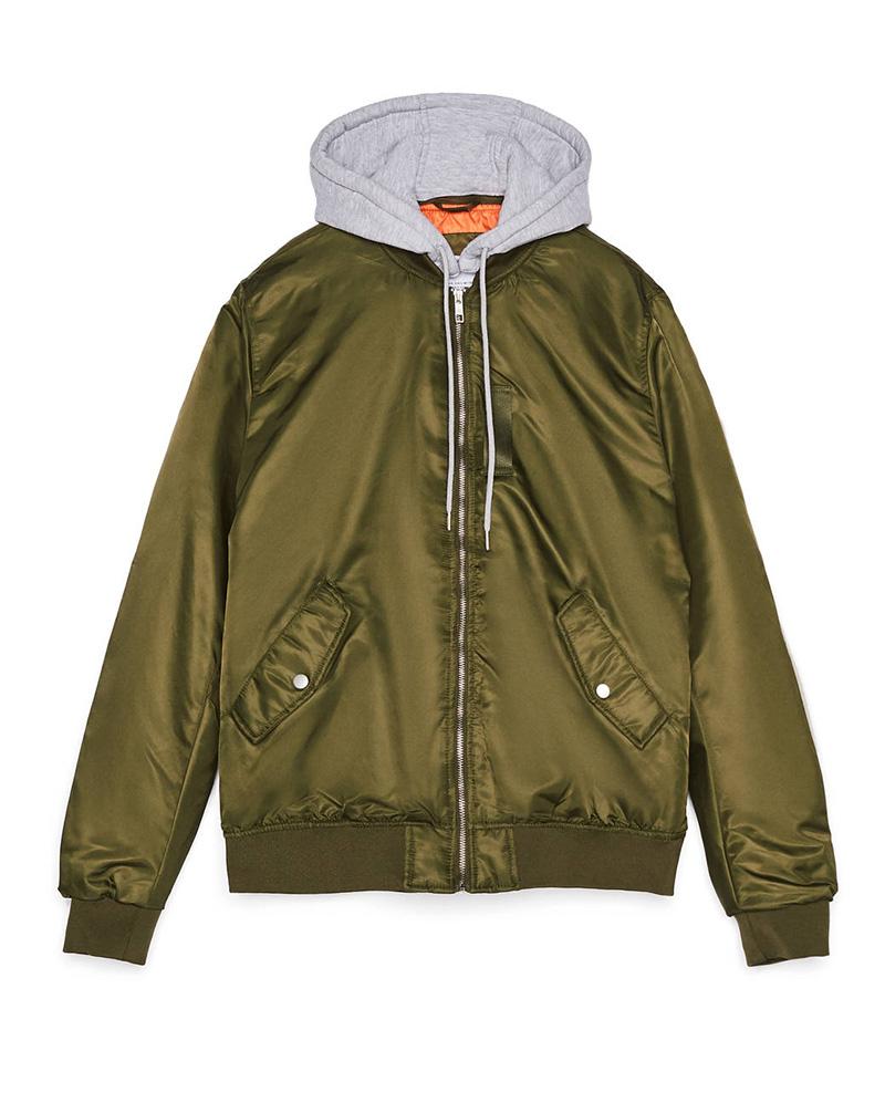Áo khoác bomber với màu xanh rêu