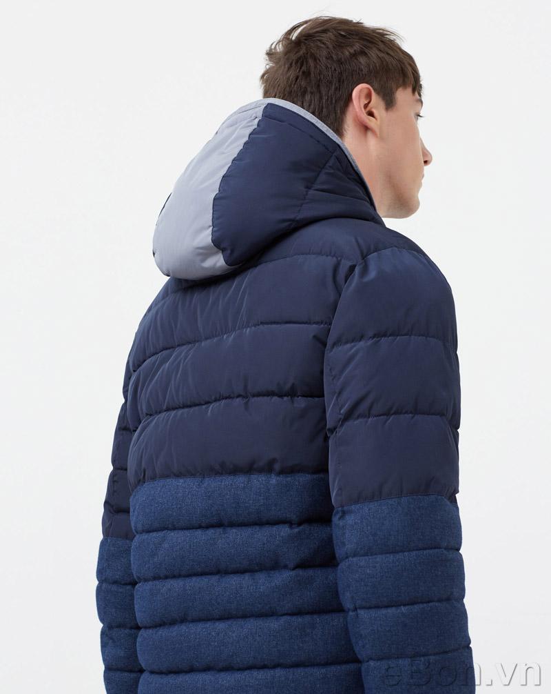 Áo khoác Mango Mixed quilted jacket