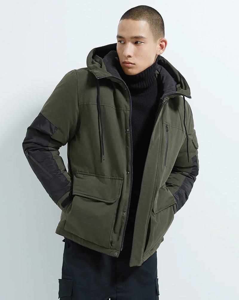 Áo khoác màu rêu cho nam
