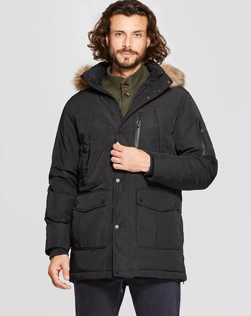 Mẫu áo khoác xuất khẩu dáng parka cho nam