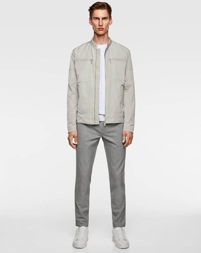Áo khoác xuất khẩu từ thương hiệu Zara với kiểu dáng biker